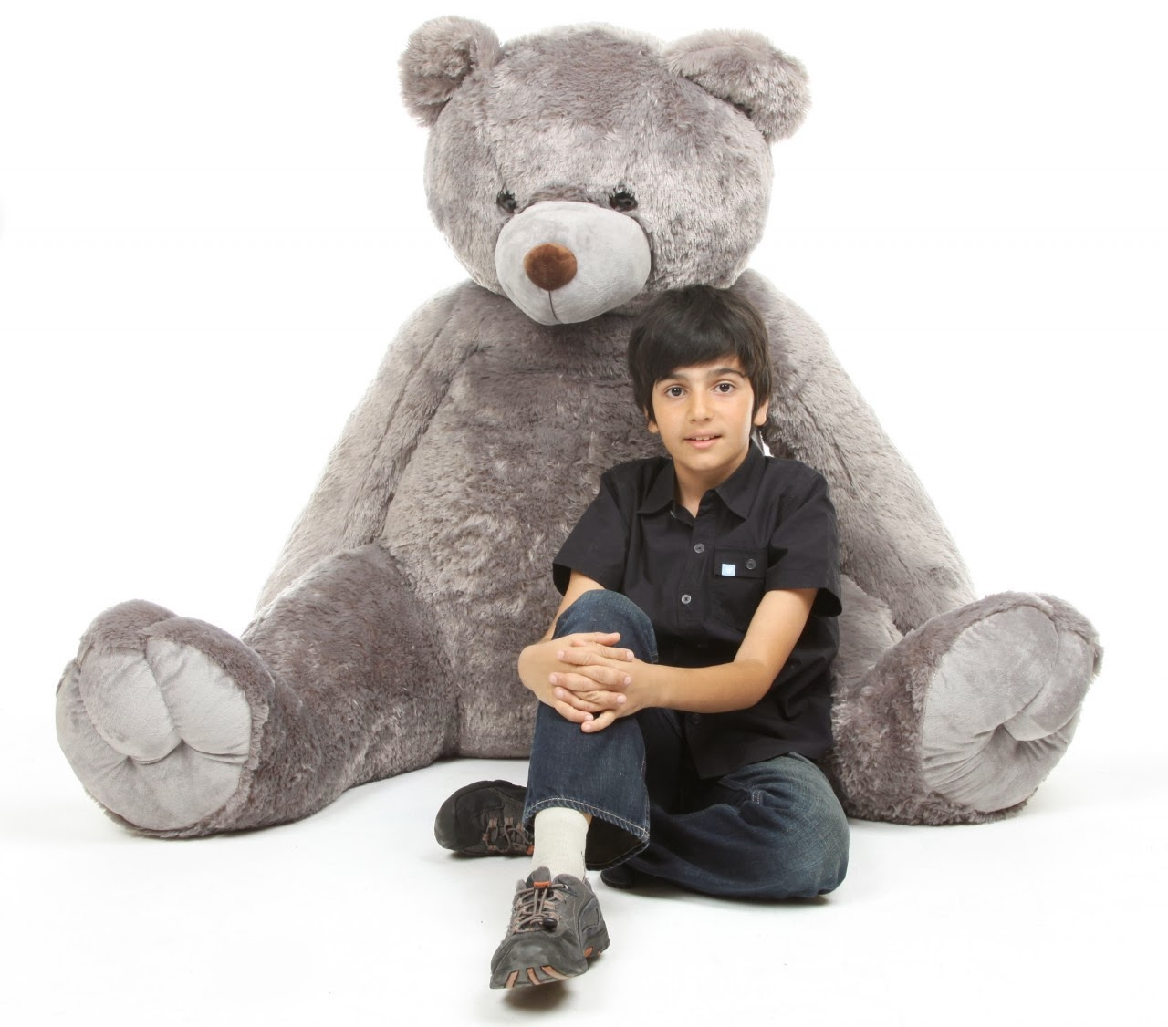 Huge life size grey teddy bear Sugar Tubs from GiantTeddy