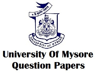 Mysore University Old Question Papers PDF