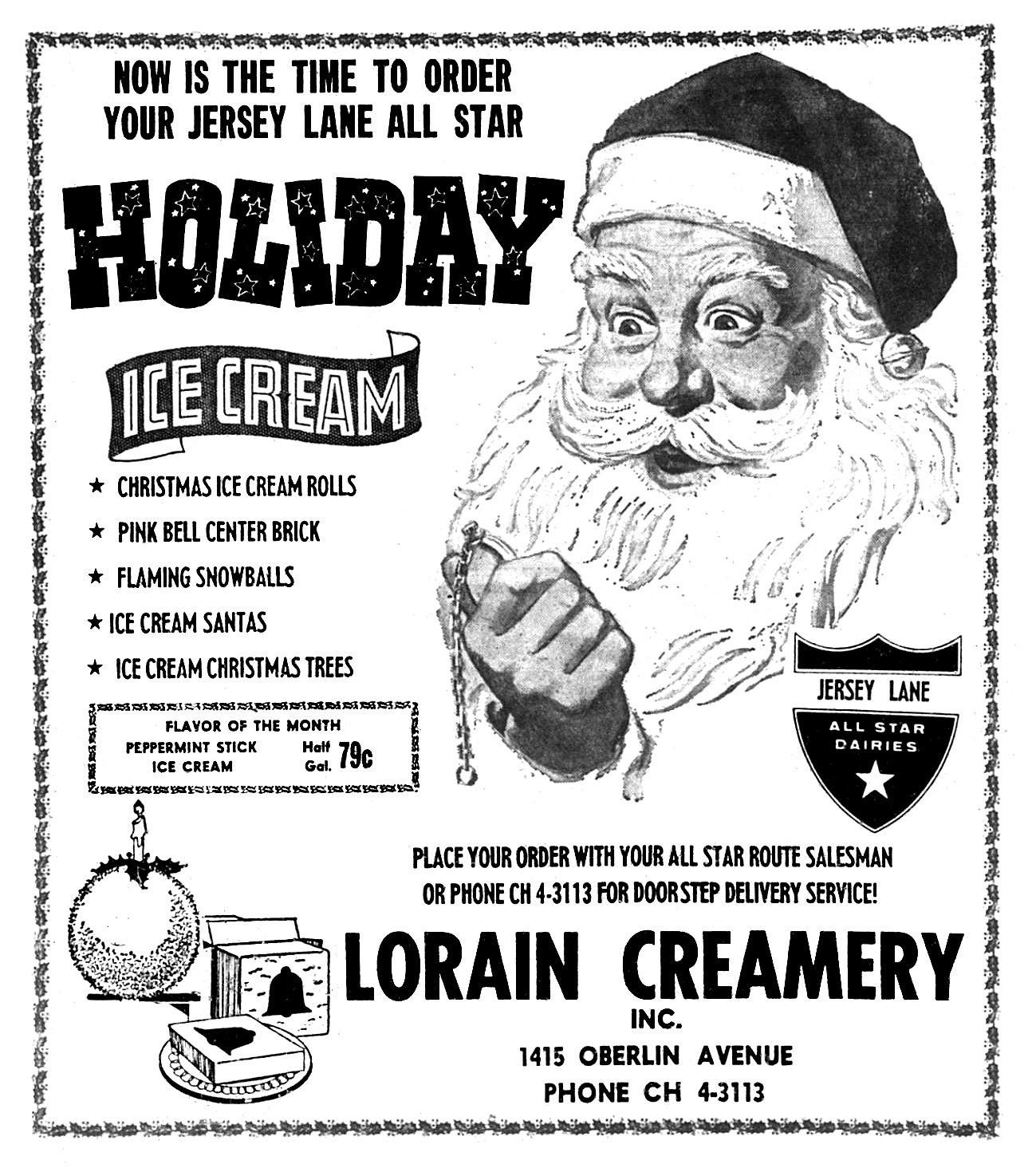 Lorain Creamery - published in the Lorain Journal - December 15, 1964