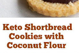 Keto Shortbread Cookies with Coconut Flour #keto #shortbread #cookies #coconut #ketosnacks