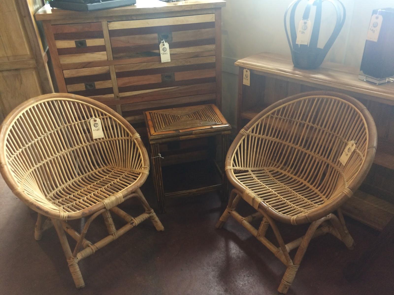 Rattan Bucket Chairs $125 Each