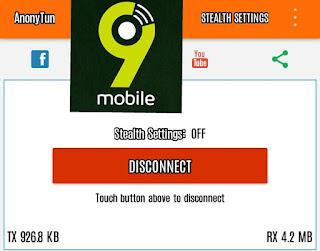 Etisalat (9Mobile) Daily Free Browsing Settings On AnonyTun VPN