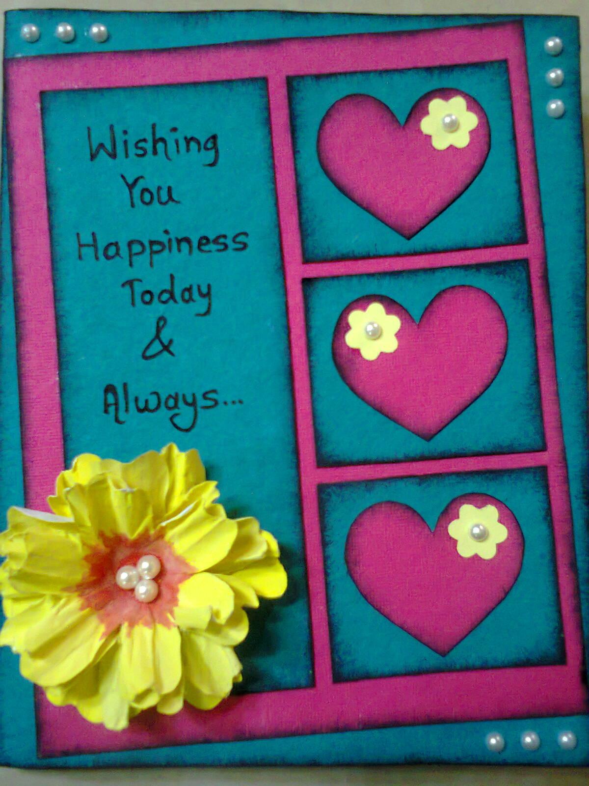 lina's handmade cards simple birthday card