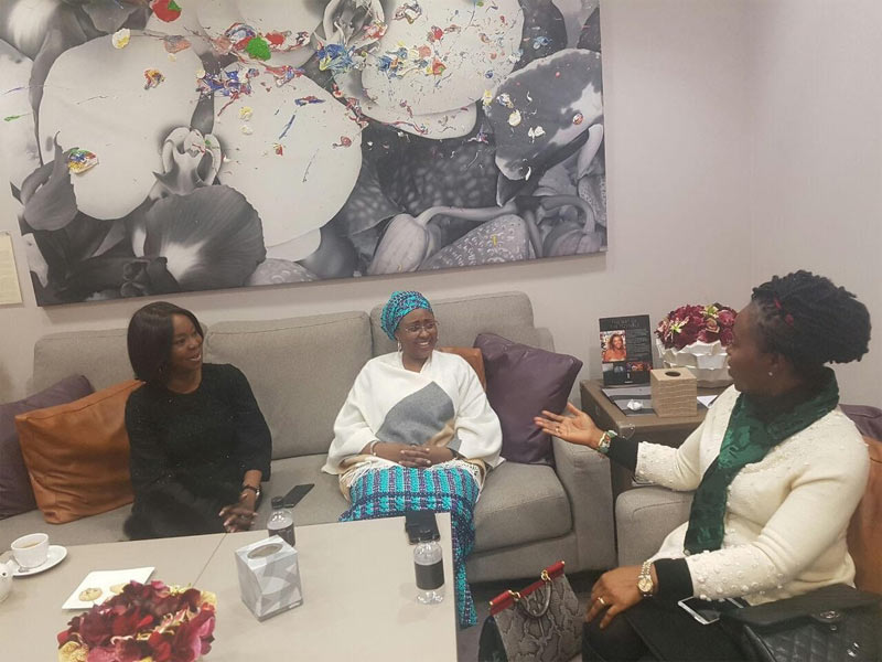 Sahara Reporters says Aisha Buhari paid N5.7m to chill at British Airways lounge for 1hr