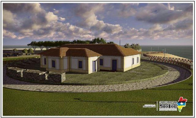 Após a conclusão da obra, este será o novo Forte de Santo Antônio