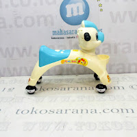 Ride On Car Happy Baby Dragon Cream Blue