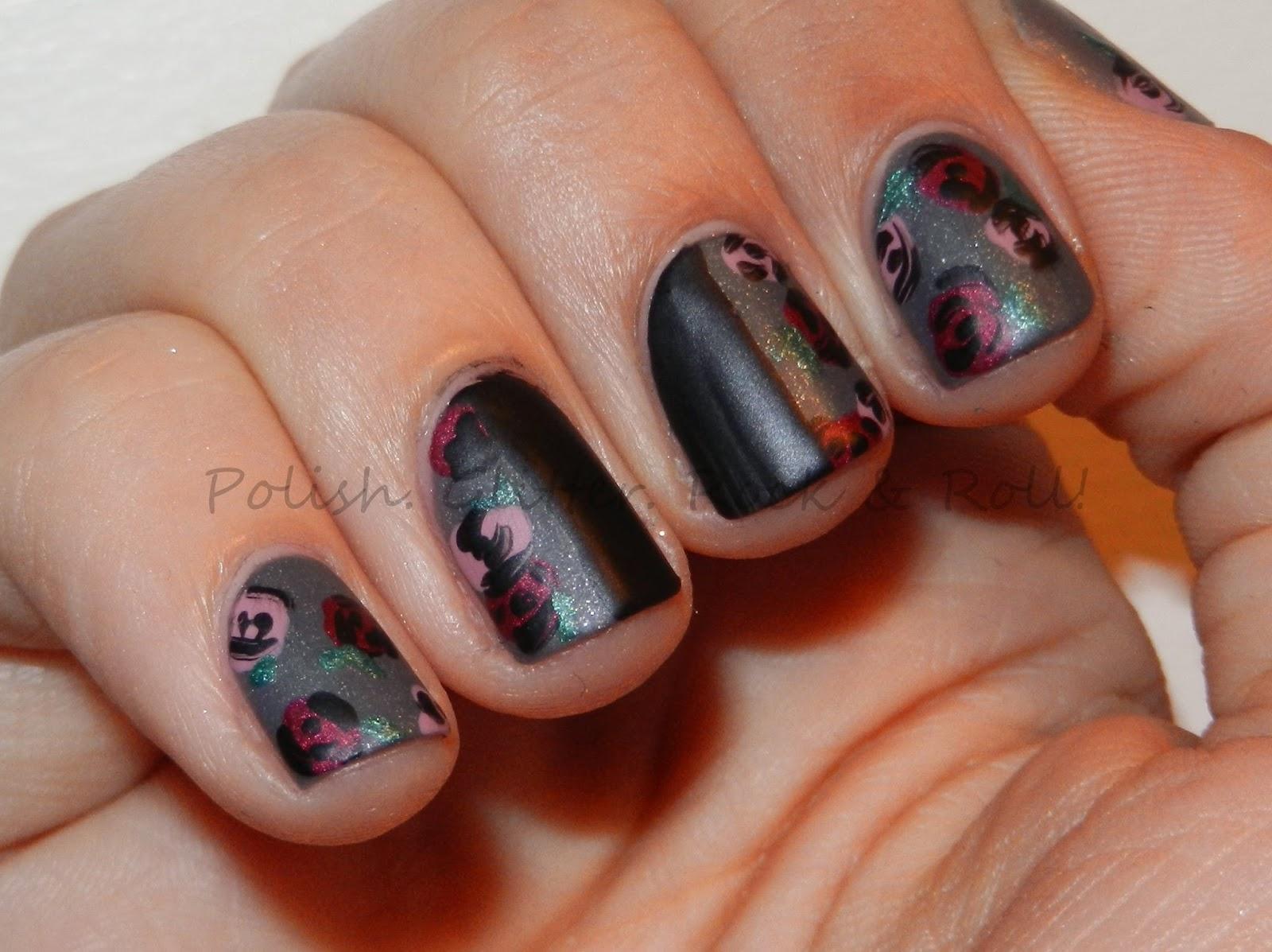 Polish. Glitter. Rock & Roll!: Dark Rose Mani