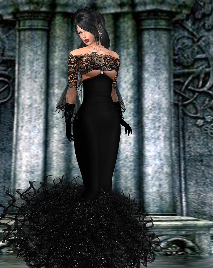 Becky Kénaan\'s Blog: Tiffany Designs Gothic Gown Featured at the ...