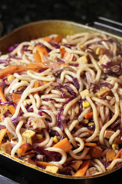 Tofu and Veggie Stir-Fry with Udon Noodles