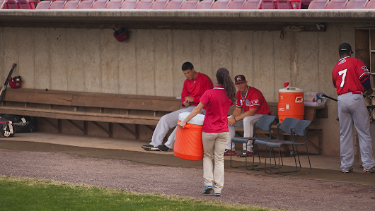 "Heading to the dugout: ""Full or Empty?"""