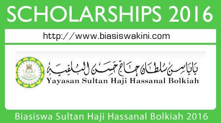 Biasiswa Yayasan Sultan Haji Hassanal Bolkiah 2016