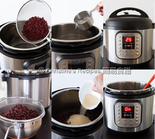 Sweetened Red Bean Instant Pot Procedures