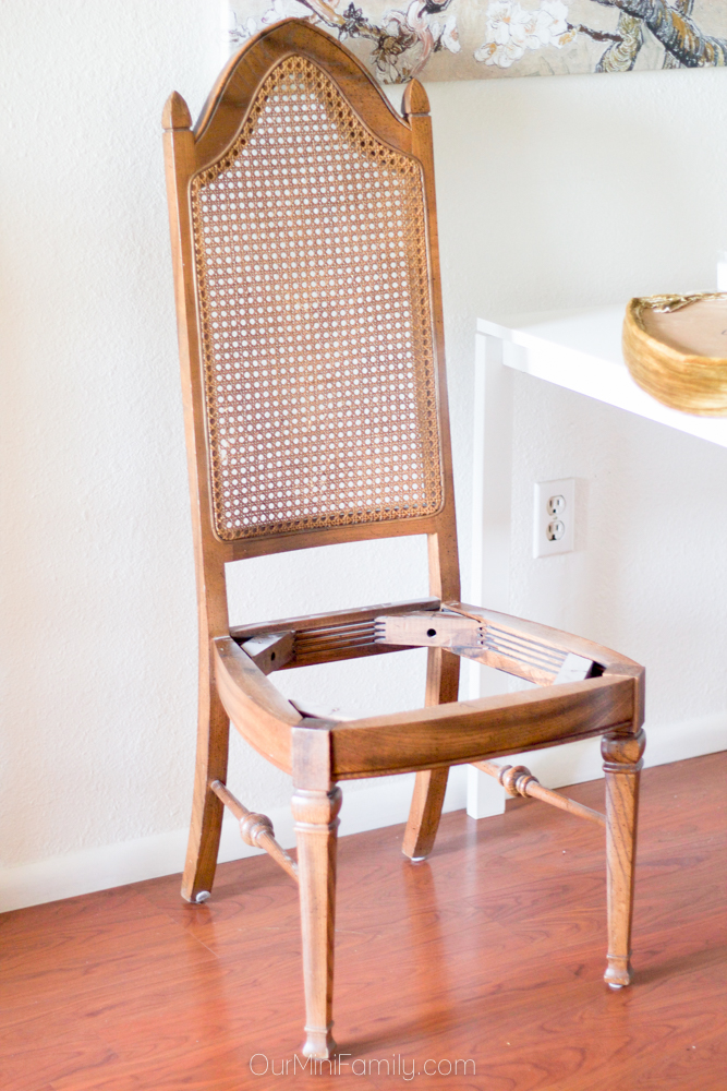 how to reupholster dining chairs folding garden argos my $8 faux fur thrift store - our mini family