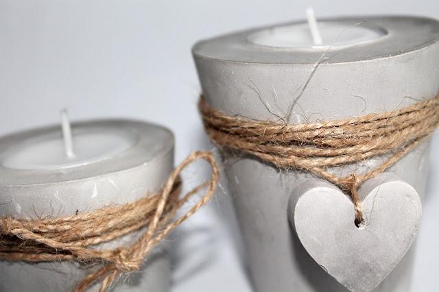 DIY, Basteln: Gips / Beton Teelichthalter Herz als Dekoration - DIYCarinchen