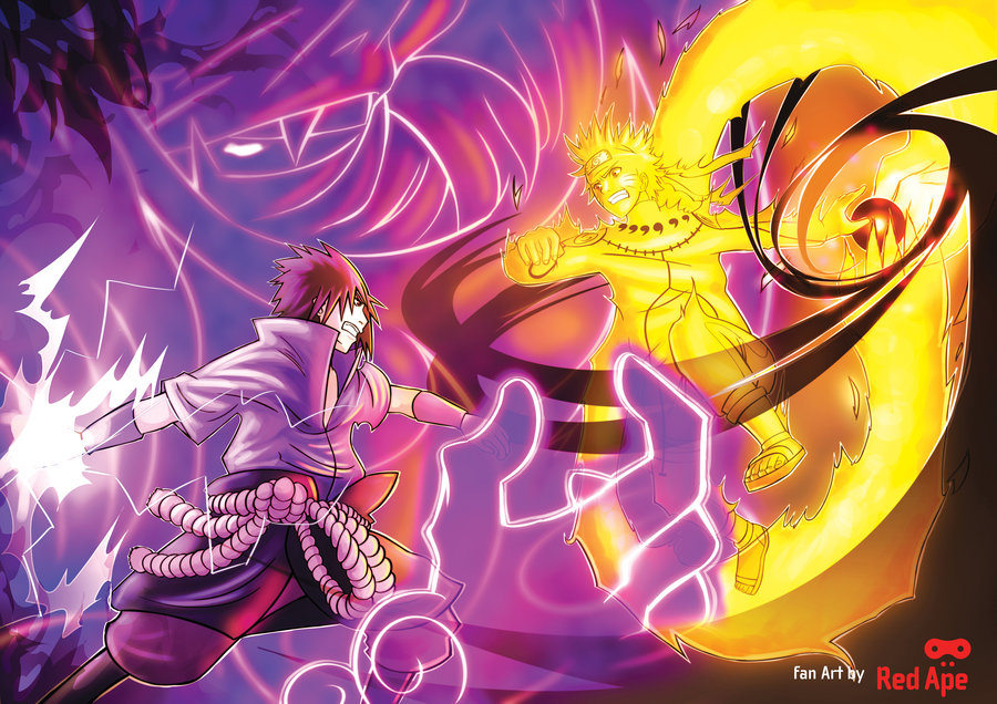 Bijuu Mode Vs Susanoo Picture from the fight