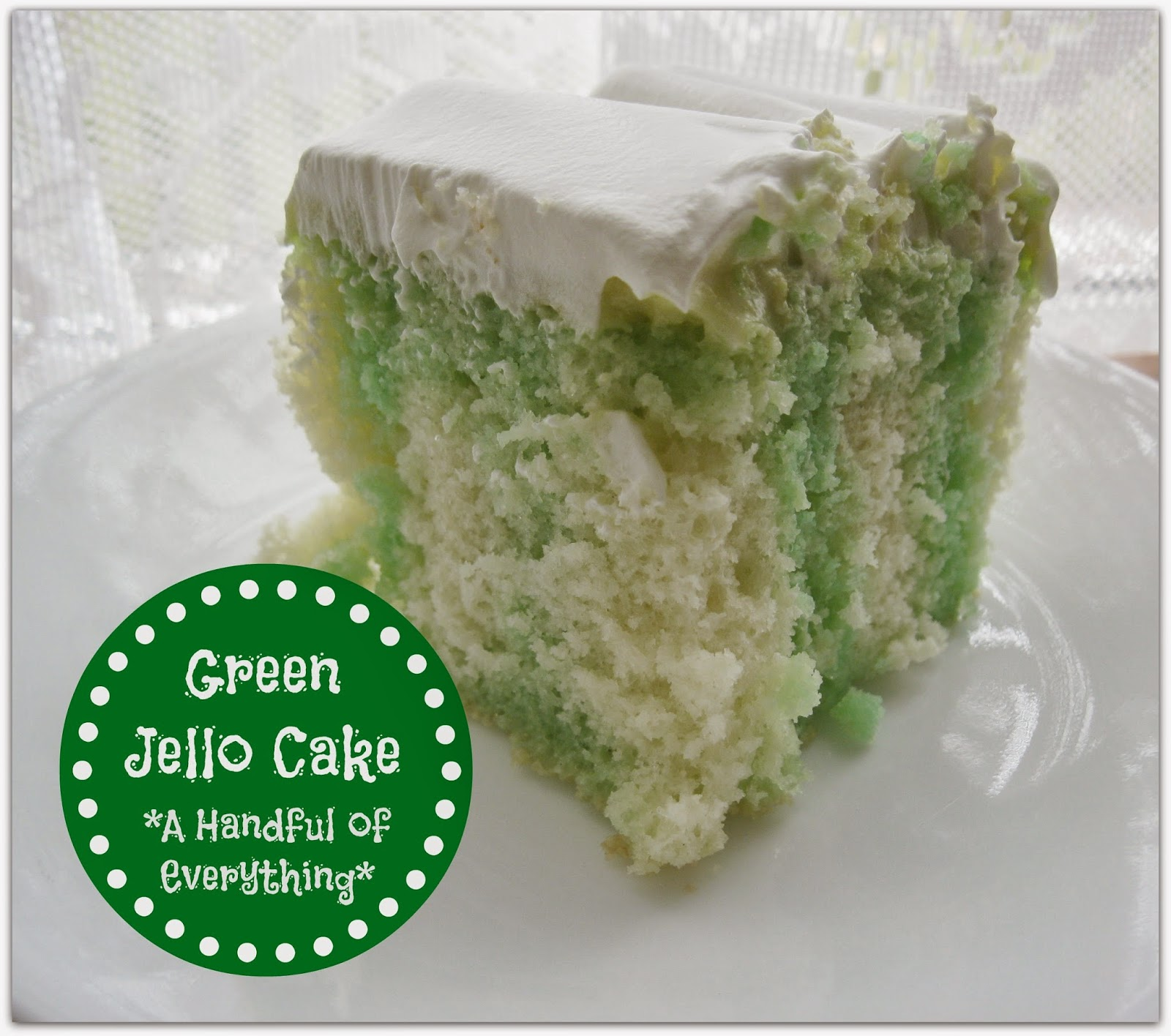 A Handful Of Everything: Green Jello Cake