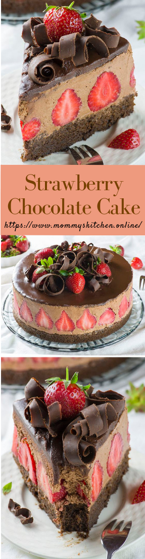 Strawberry Chocolate Cake #desserts #strawberrycake