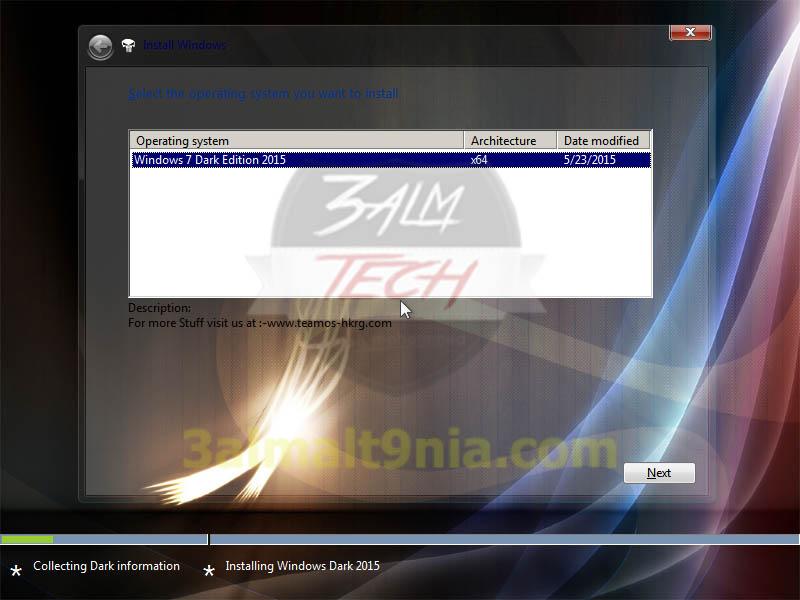 تحميل ويندوز 7 الاسود دارك معدل – Windows 7 Dark 2015 X64bit