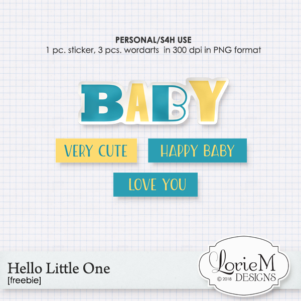 Hello Little One, Bundle + FWP 40% OFF & Freebie