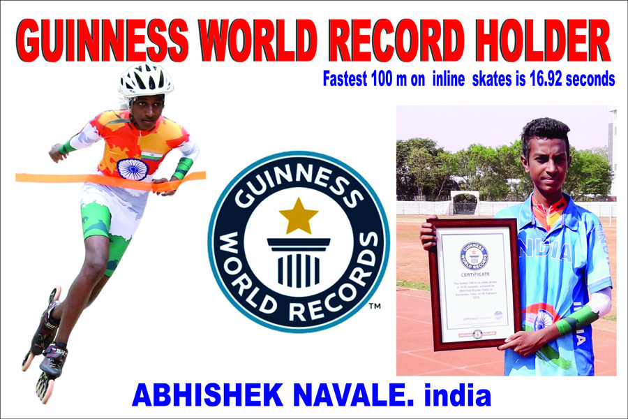 THREE TIMES WORLD RECORD HOLDER: GUINNESS WORLD RECORD
