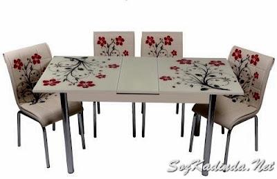 tekzen yemek masası takımı