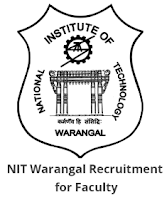 NIT Warangal Recruitment 2018 for Faculty