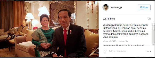 Selamat!! Presiden Jokowi dan Ibu Negara Iriana Ulang Tahun Pernikahan ke-30 Hari Ini