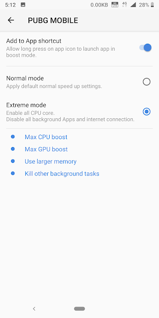 Smart boost - Extreme mode