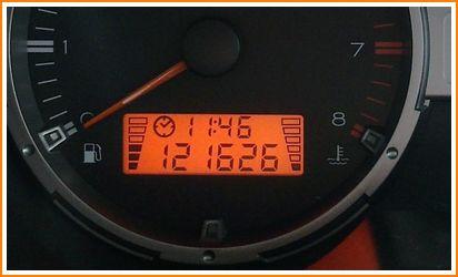 Gambar meter dashboar papan pemuka minyak Proton SAGA BLM