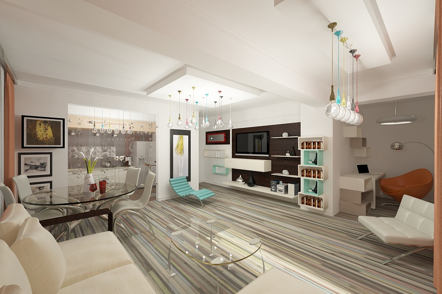Design interior apartament modern | Amenajari interioare apartament cu 4 camere in Constanta.