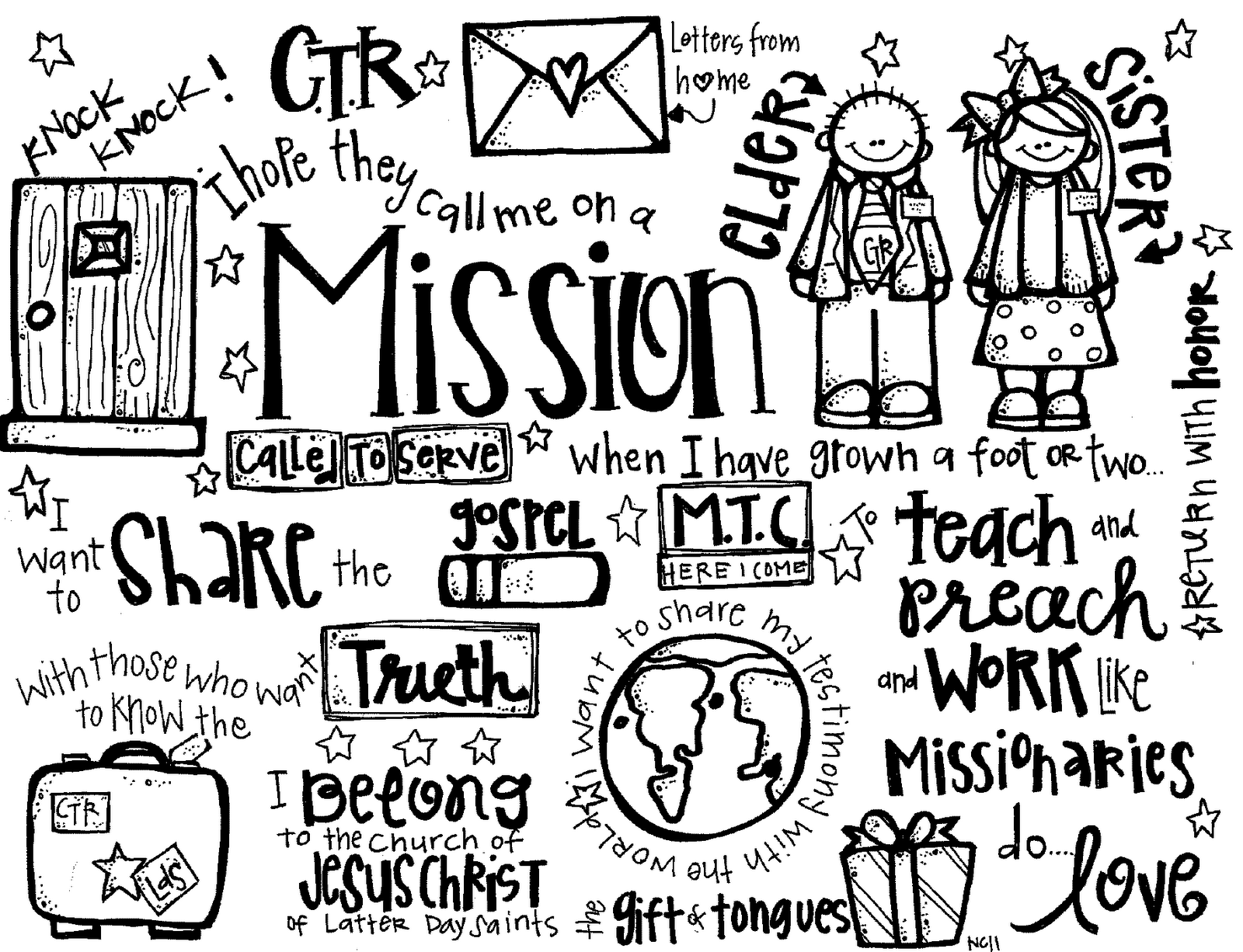 missionaries coloring pages - photo#4