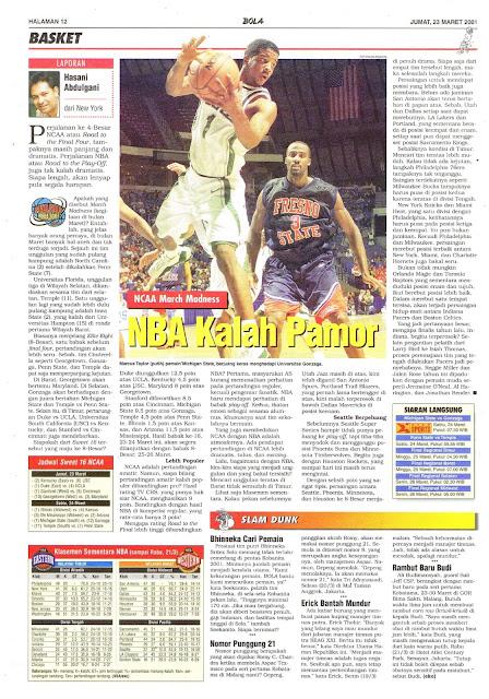 NCAA MARCH MADNESS NBA KALAH PAMOR
