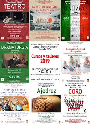 Cursos y talleres 2019