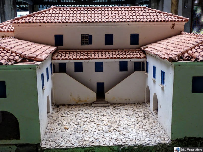 Maquete do Castelo Garcia D'Ávila - O que fazer na Praia do Forte (Bahia)