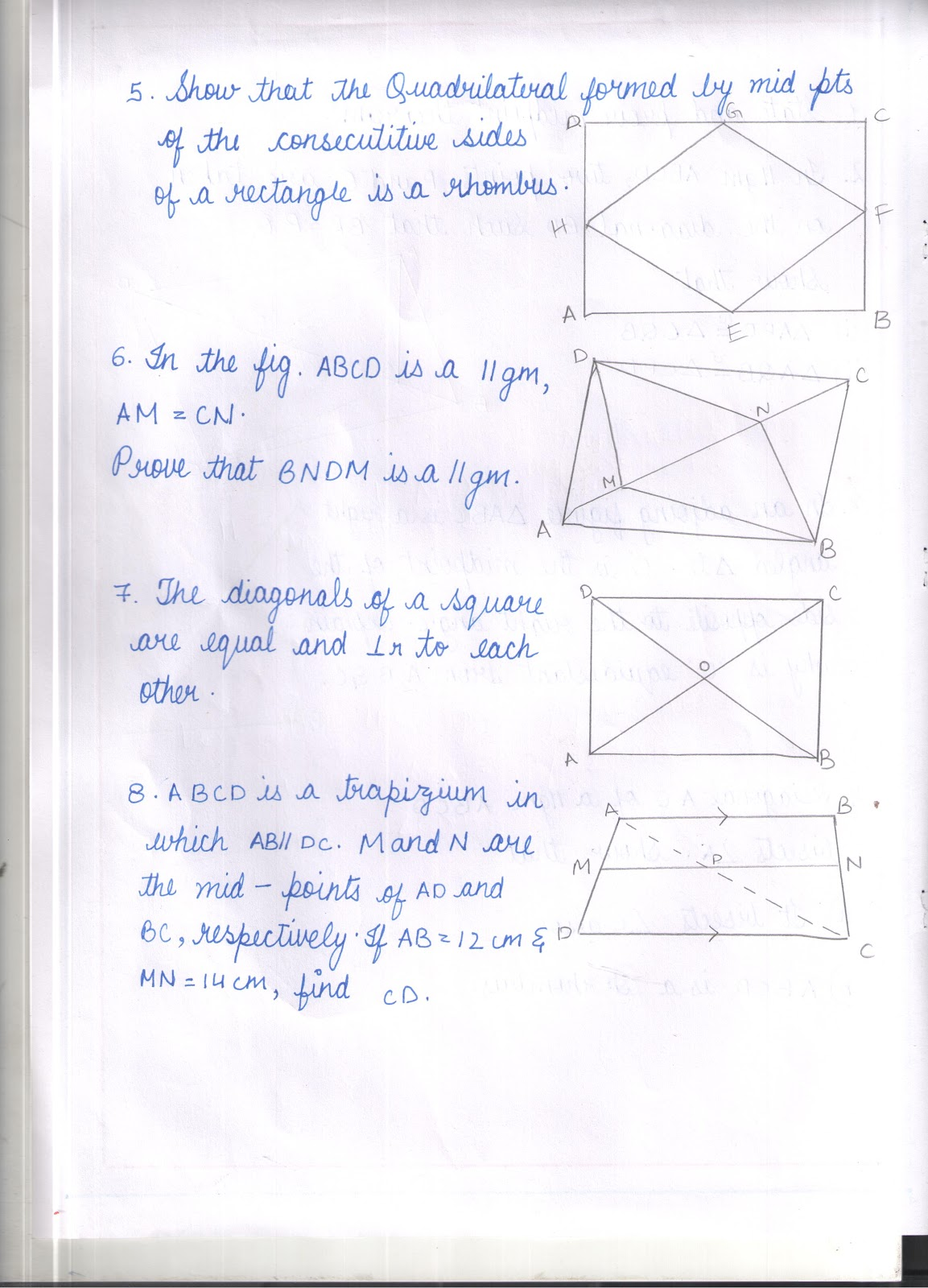 Apsg Worksheet On Quadrilaterals Fa3 Revision