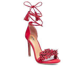 red fringe heels