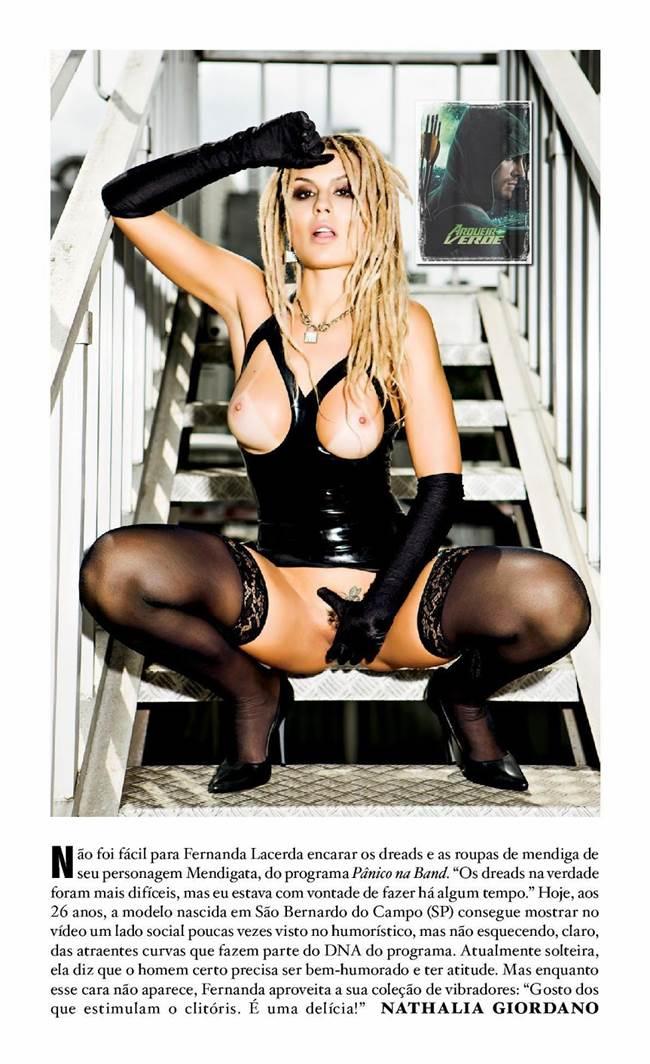 "Fernanda Lacerda ""Mendigata"" pelada nua na Playboy 5"