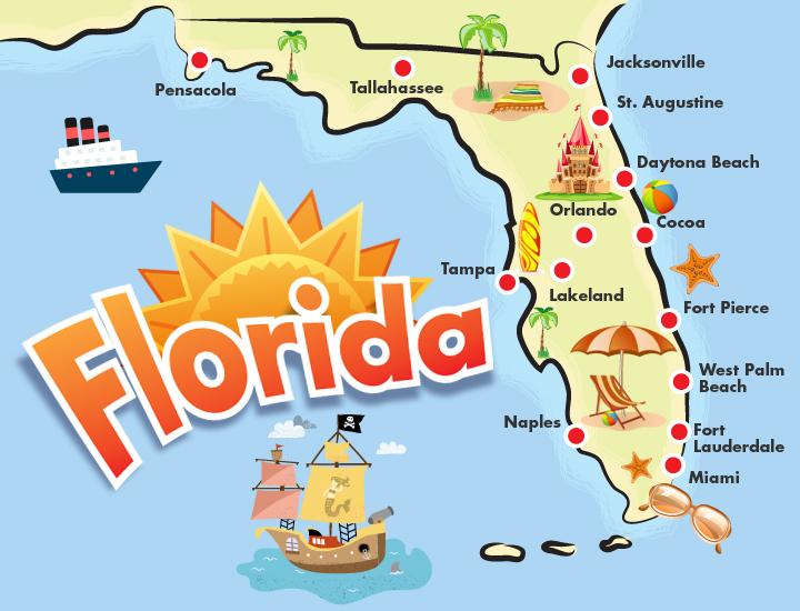 morar na flórida - cidades da Flórida