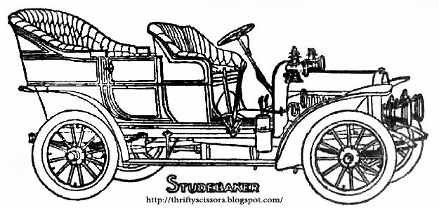 coloring pages of antique automobiles