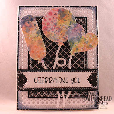 Our Daily Bread Designs Stamp Set: Celebrating You, Paper Collection:  Chalkboard, Custom Dies: Pierced Rectangles, Circle Scalloped Rectangles, Birthday Balloons, Double Stitched Pennant Flags