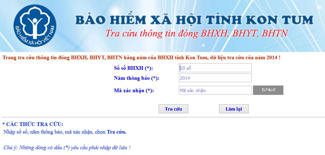 Tra cứu bảo hiểm xã hội tỉnh Kon Tum | Tra cứu BHXH tỉnh Kon Tum | Tra cứu số sổ BHXH tỉnh Kon Tum