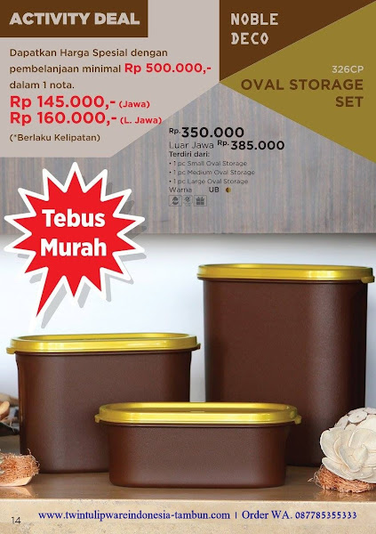 Tebus Murah Oval Storage Set