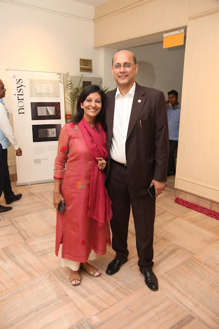 Gopal Jiwarajka , President -PHD Chambers of Commerce and Industry with Neetu Jiwarajka