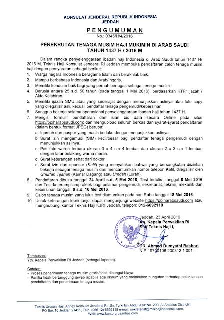 Pendaftaran Temus Haji 2016 / 1437 H, Ini Pengumuman Resmi dan Syarat-syaratnya