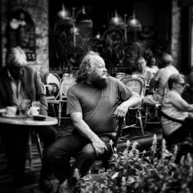 beard, barbe, normandie, terrasse, regard, yeux, portrait