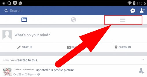 how to logout facebook mobile app
