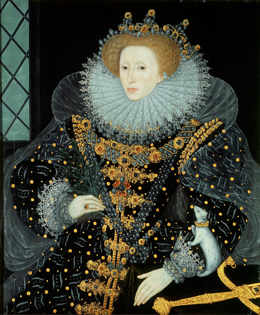 The Ermine Portrait of Elizabeth I of England c 1585