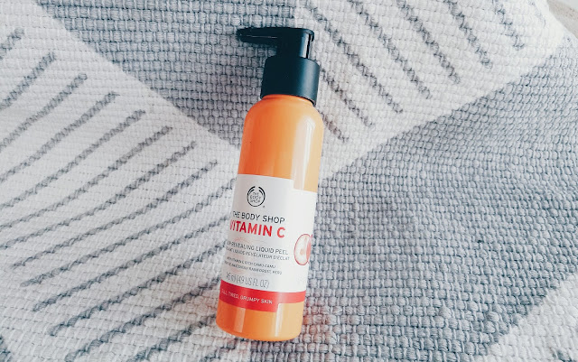 Vitamin C Glow Revealing Liquid Peel from The Body Shop, south african beauty blogger