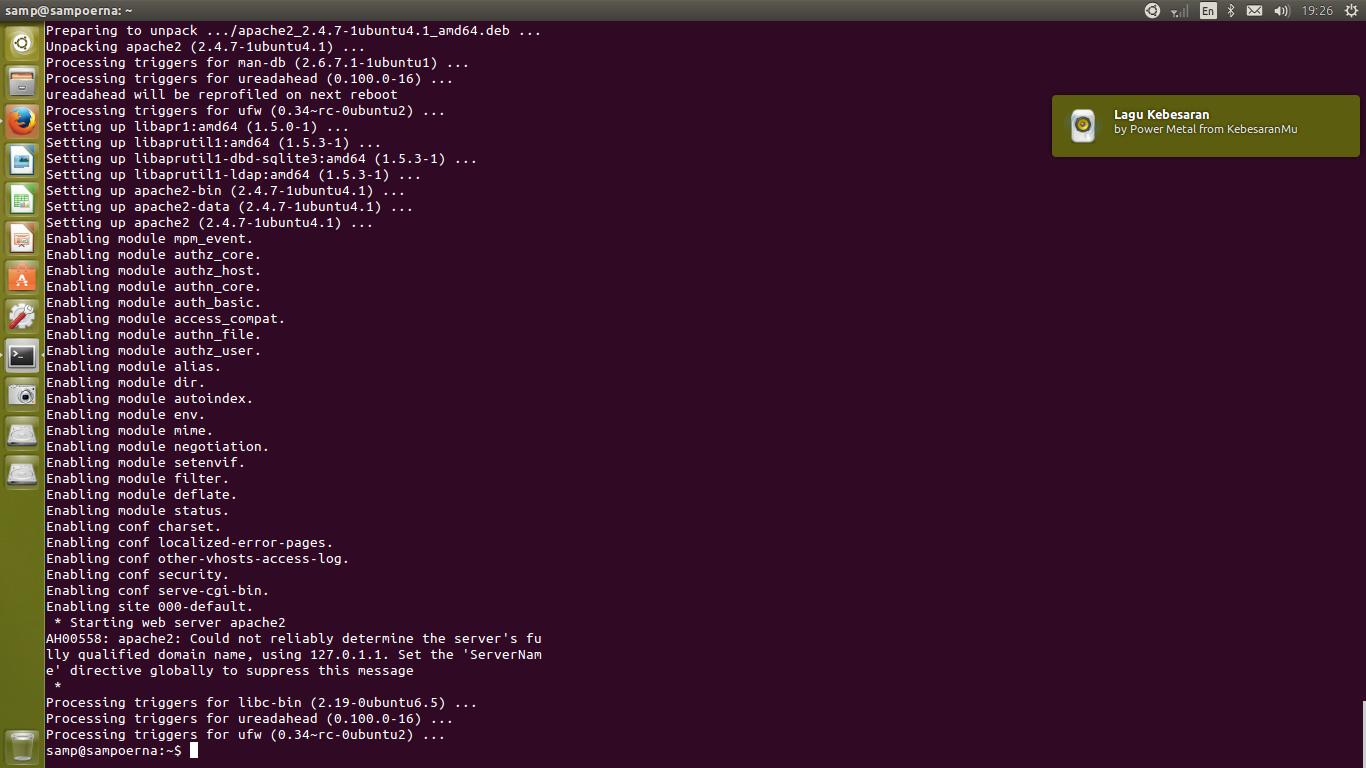 SAMP7: Cara Instal LAMP (Apache. MySQL. PHP) di Ubuntu 14.04 LTS
