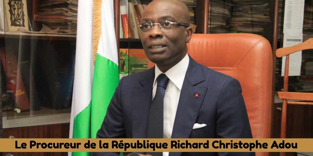 Le Procureur de la République Richard Christophe Adou